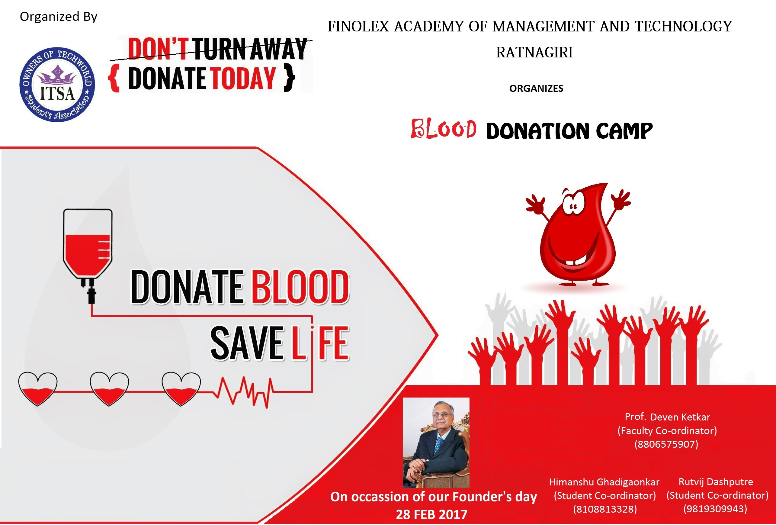 a blood donation camp A blood donation camp will be organized by the ait clinic along with the thai  red cross association on 9 june 2016 from 09:00-11:30 am.