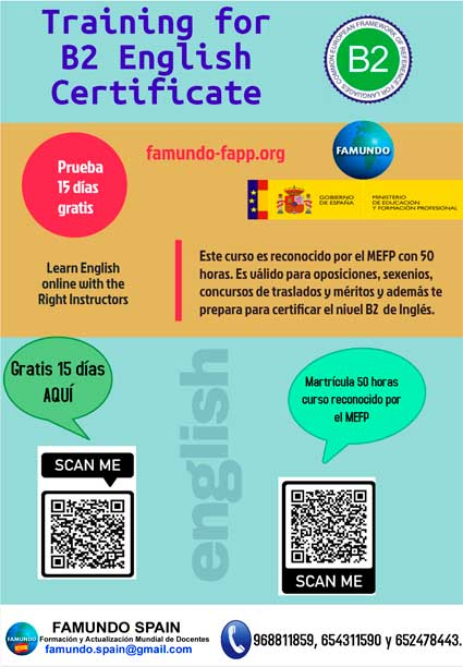 «Training B2 English Certificate«