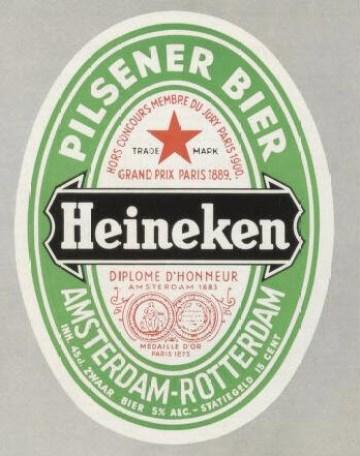 New Heineken Logo 1954