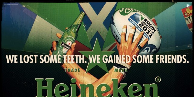 """Sponsoring the Rugby worldcup with campaign""""This is the game"""""""