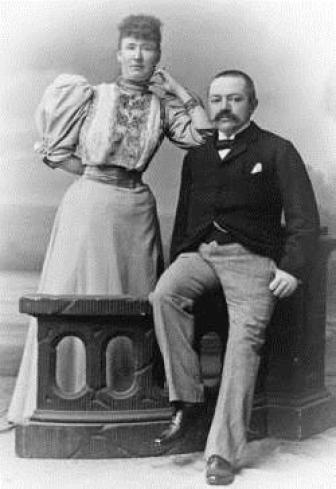 J.D.A. Petersen with Mary Tindal