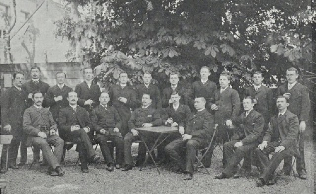 "Old image of ""Mouters"" of the Rotterdam Brewery in 1890 - 1892"