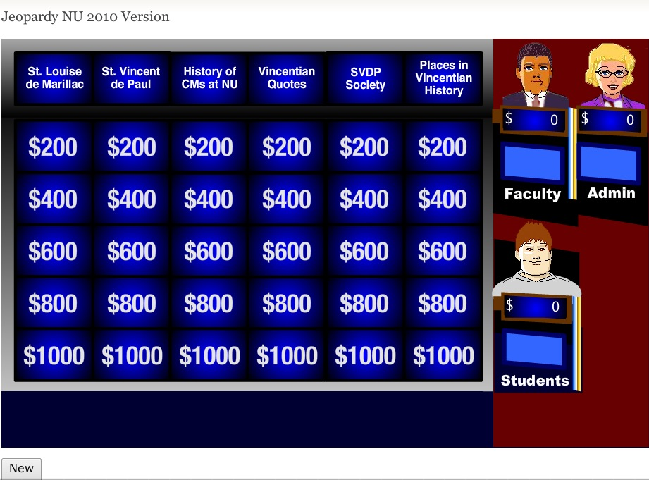 vincentian jeopardy at niagara university famvin newsen. Black Bedroom Furniture Sets. Home Design Ideas