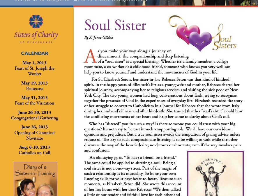 Elizabeth Seton – Soul Sisters (and brothers)
