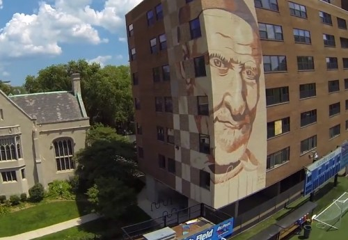 Vincentian mural… and drone camera
