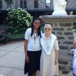 Yasmine Cajuste and Sr Rosa Maria Sanchez July 2013 in Philly