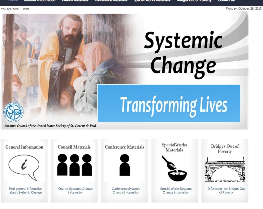 SVDP – Resources for Systemic Change