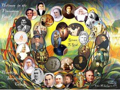 Vincentian saints and blesseds since 1660