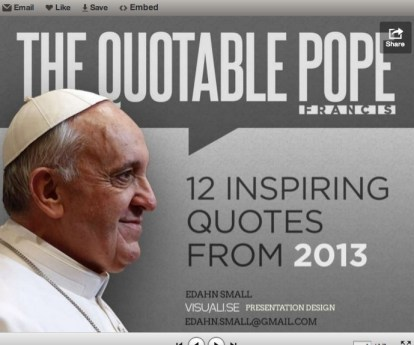The quotable Pope … in images