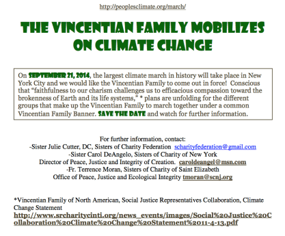 Vincentian Family mobilizes on climate change