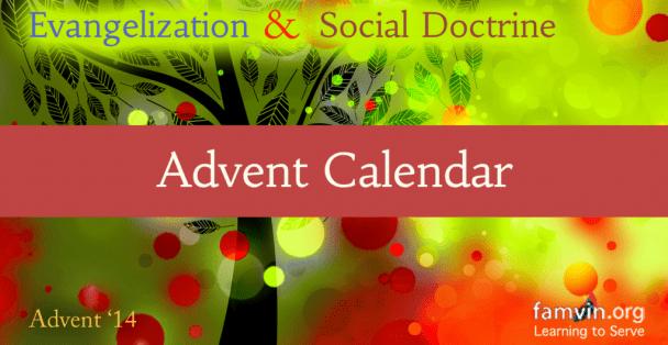 Advent Social teaching calendar