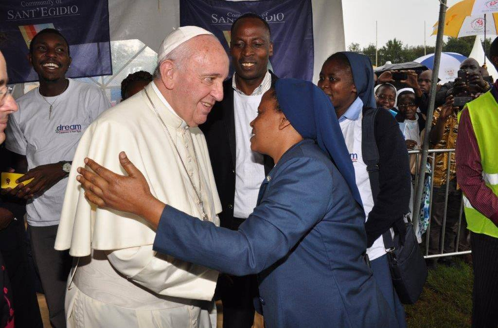 Encounter with Pope Francis at D.R.E.A.M. in Kenya