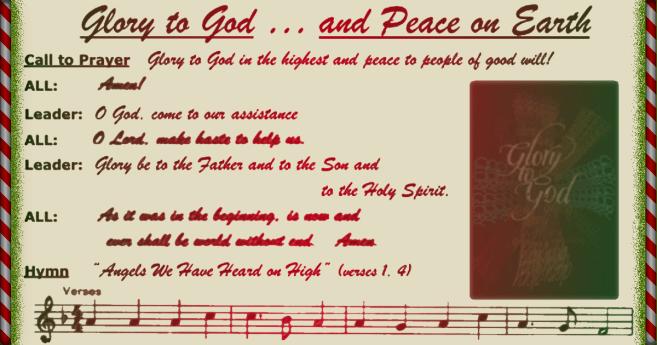 LCUSA Christmas Prayer Service