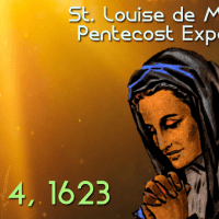 "St. Louise received the Light of Pentecost (her ""Lumière"" Experience)"