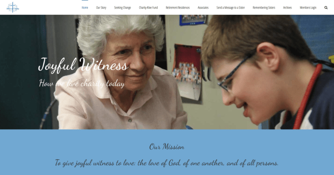 Sisters of Charity-Halifax Launch New Website