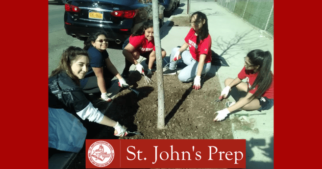 St. John's Prep Junior Ladies of Charity Sponsor Tree Care