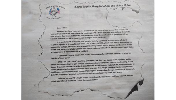 Niagara Wire receives letter from KKK @NiagaraUniv #IamVincent @NiagaraWire