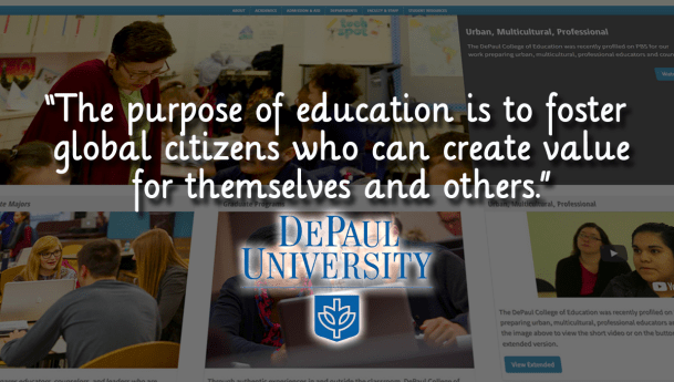 """DePaul University Launches """"First Master's in Education of Its Kind"""""""