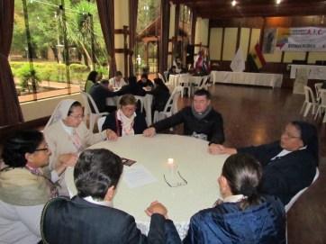 In the center, Father Alvaro Mauricio Fernández, CM