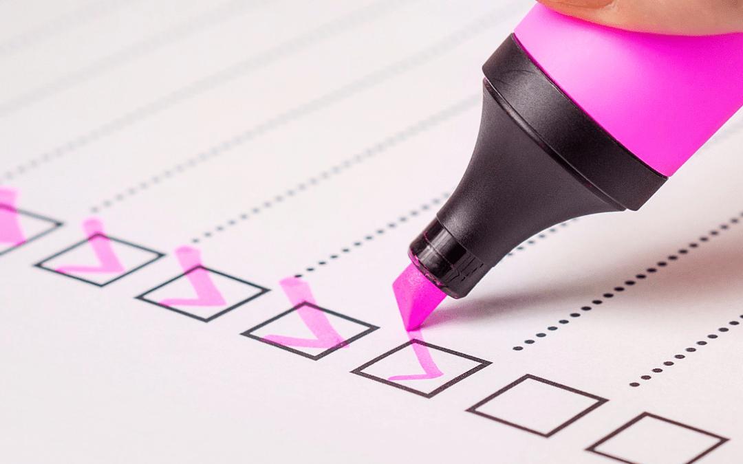 Making a Social Media Checklist