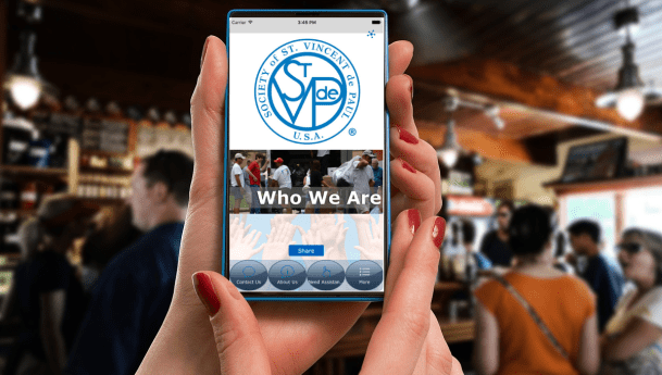 Get the Society of St. Vincent de Paul App Today!