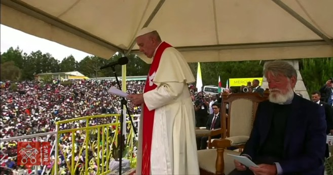 Greeting of Pope Francis During his Visit to Akamasoa
