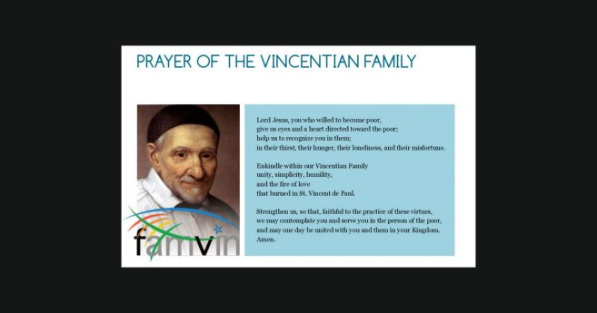 Prayer of the Vincentian Family #FamVin2020Roma