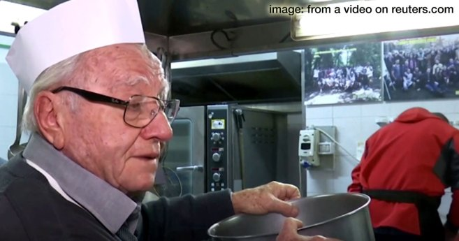 """""""Chef of the Poor"""" Feeds Italy's Homeless"""