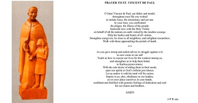 Prayer to Saint Vincent in the Face of the Coronavirus Pandemic