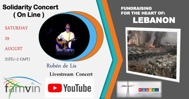 Solidarity Concert [On Line] on behalf of Lebanon: Saturday, August 29th