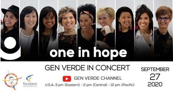 Gen Verde in Concert, September 27, 2020, Inspired by the Life and Works of St. Vincent de Paul
