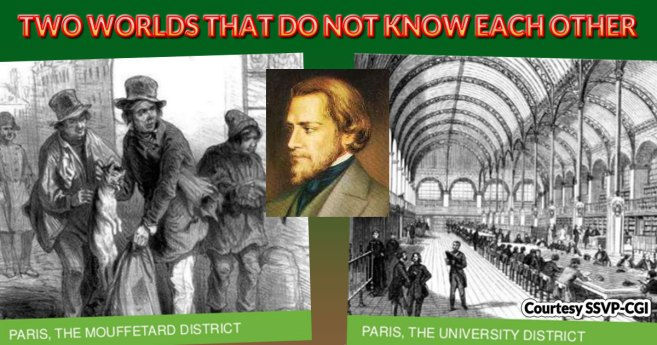 The Origin of the Society of St. Vincent de Paul: Bringing together two worlds that did not know each other