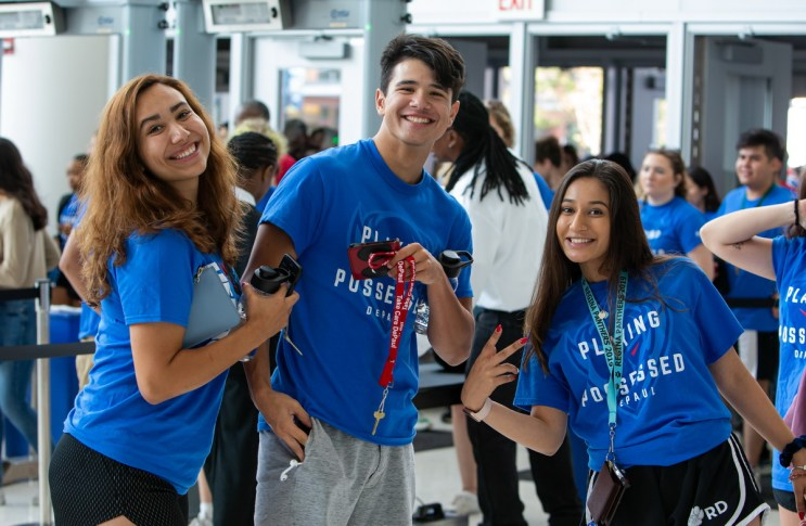 Students prepare for the autumn quarter by participating in DePaul University's first student convocation at the Wintrust Arena, Tuesday, Sept. 10th, 2019 near DePaul's Loop Campus.