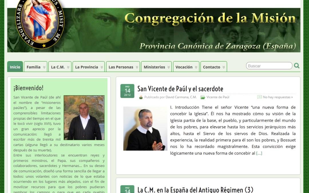 La web de los Paúles de Zaragoza se renueva