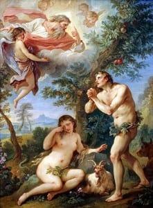 Expulsión del Paraiso. Charles-Joseph Natoire. 1740.