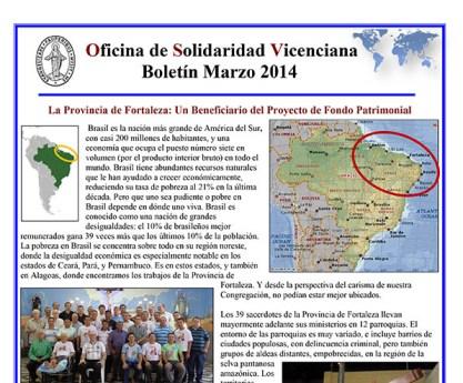 Boletín de Marzo de la Oficina de Solidaridad Vicenciana