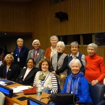Miembros de la Familia Vicenciana asistiendo al Comité del Foro para el Desarrollo Social