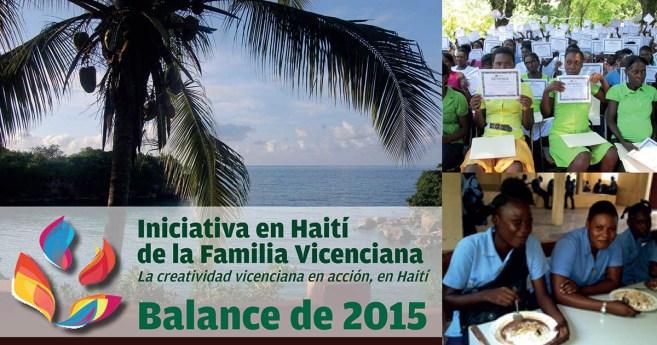 Balance positivo del año 2015 para la Iniciativa en Haití de la Familia Vicenciana
