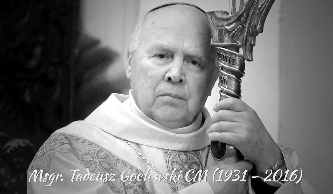 Fallece el Arzobispo Emérito de Gdansk, Tadeusz Goclowski, C.M. (1931–2016)