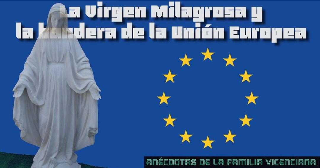 milagrosa y bandera UE fb