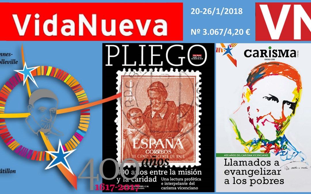 La revista «Vida Nueva» publica un encarte y un pliego en torno al Carisma Vicenciano