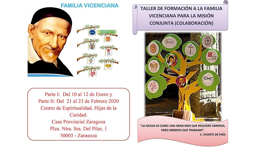 Nuevo taller de formación en torno a la colaboración en la Familia Vicenciana, en España