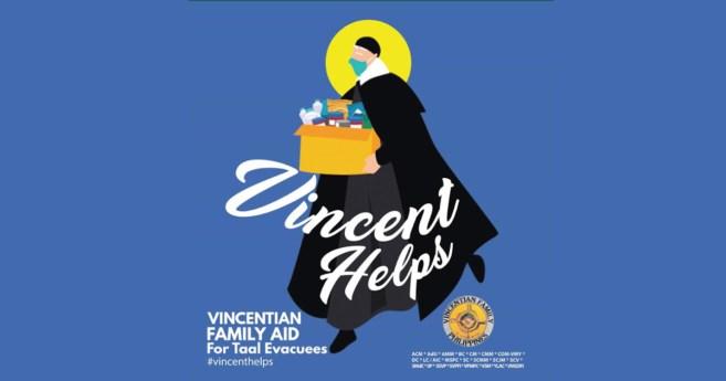 La respuesta de la Familia Vicenciana a la erupción del volcán Taal en Filipinas