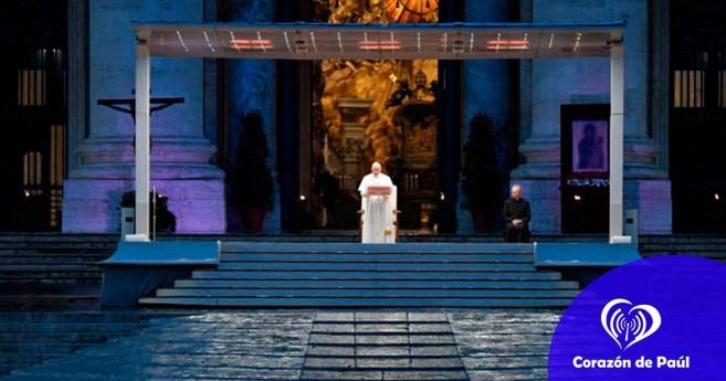 Palabras del papa Francisco durante la bendición Urbi et Orbi del 27 de marzo