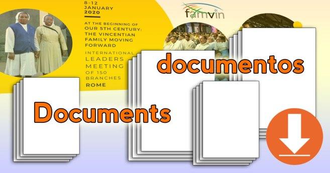 Documentos del encuentro de Superiores y Presidentes de la Familia Vicenciana en Roma, enero de 2020