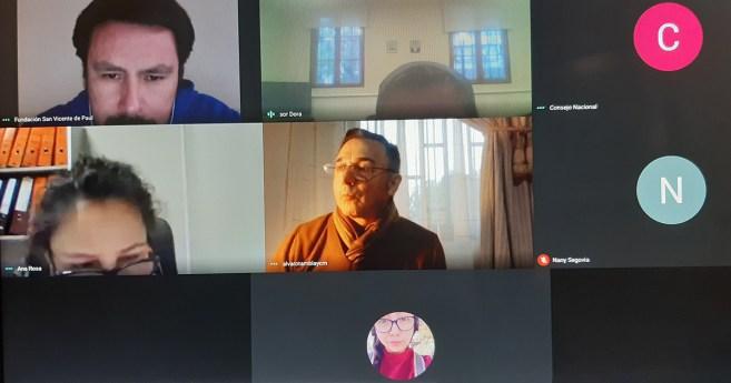 Consejo Nacional de la Familia Vicentina de Chile sostiene reunión virtual