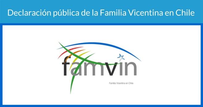 Declaración pública de la Familia Vicentina en Chile