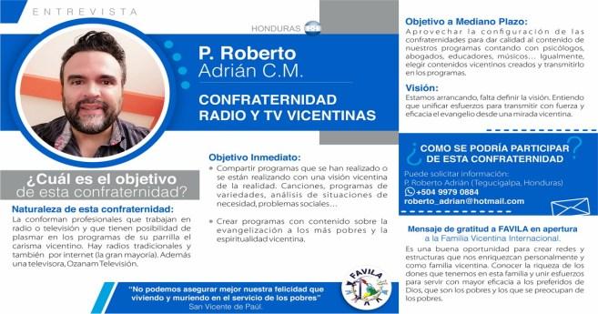 Entrevista a P. Roberto Adrián CM, responsable de la Confraternidad de Radio y TV vicentinas