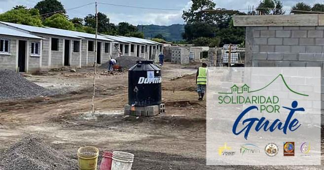 Trabajando a favor de damnificados en Guatemala