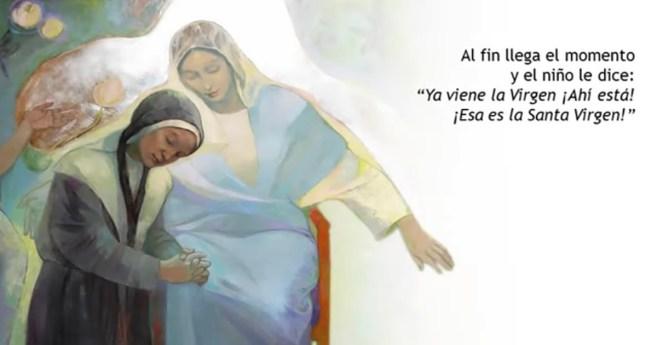 «Ya viene la Virgen. ¡Aquí está!»